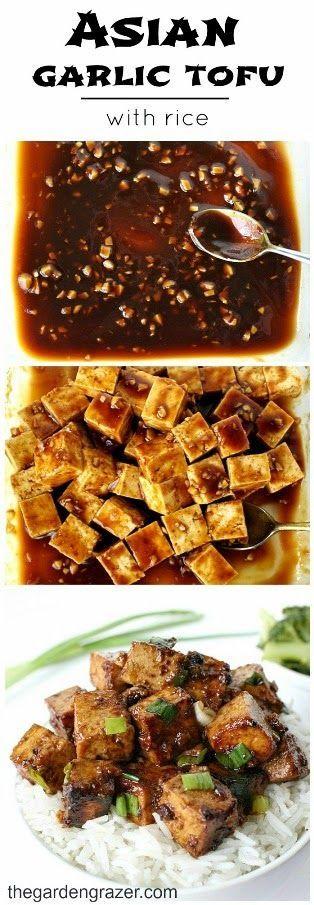 Vegan Asian Garlic Tofu Recipe with Rice