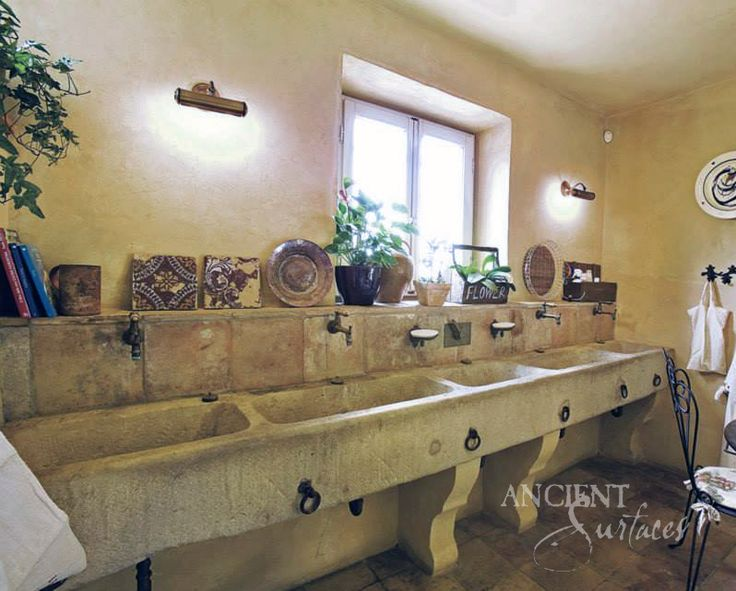 Perfect Antique Hand Carved Limestone And Marble Sinks By Ancient Surfaces.