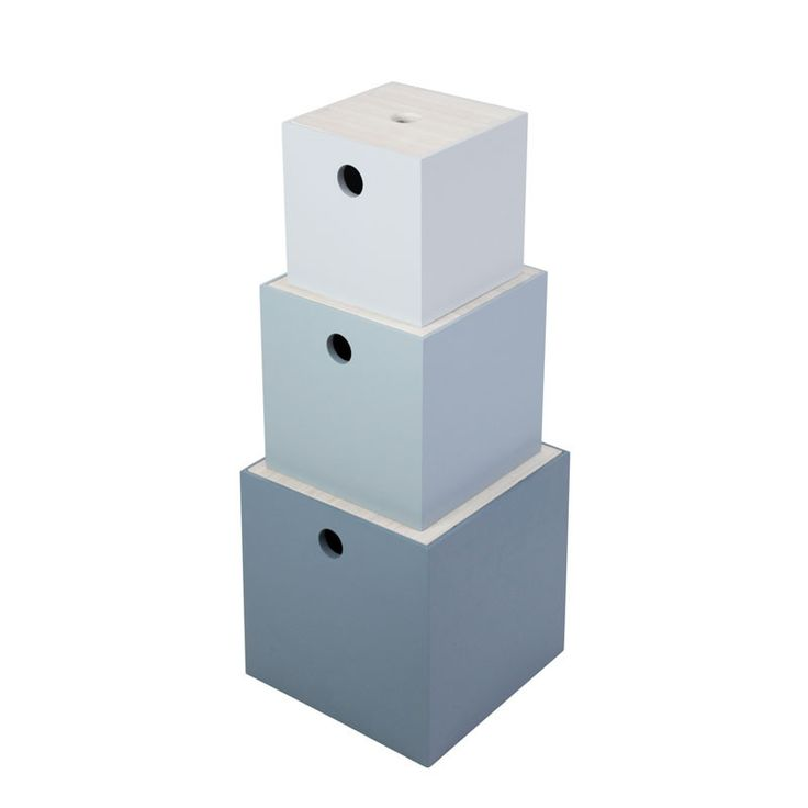 Sebra opbevaringskasser, 3 stk - pastel dreng - Køb her | LirumLarumLeg