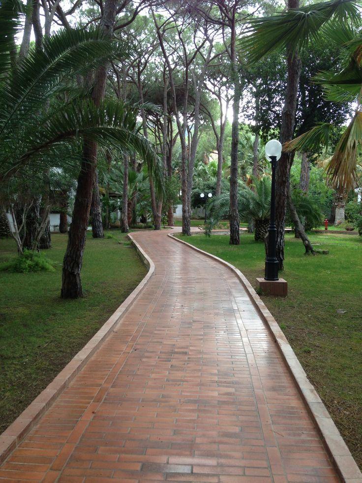 Walking path in Sardinia
