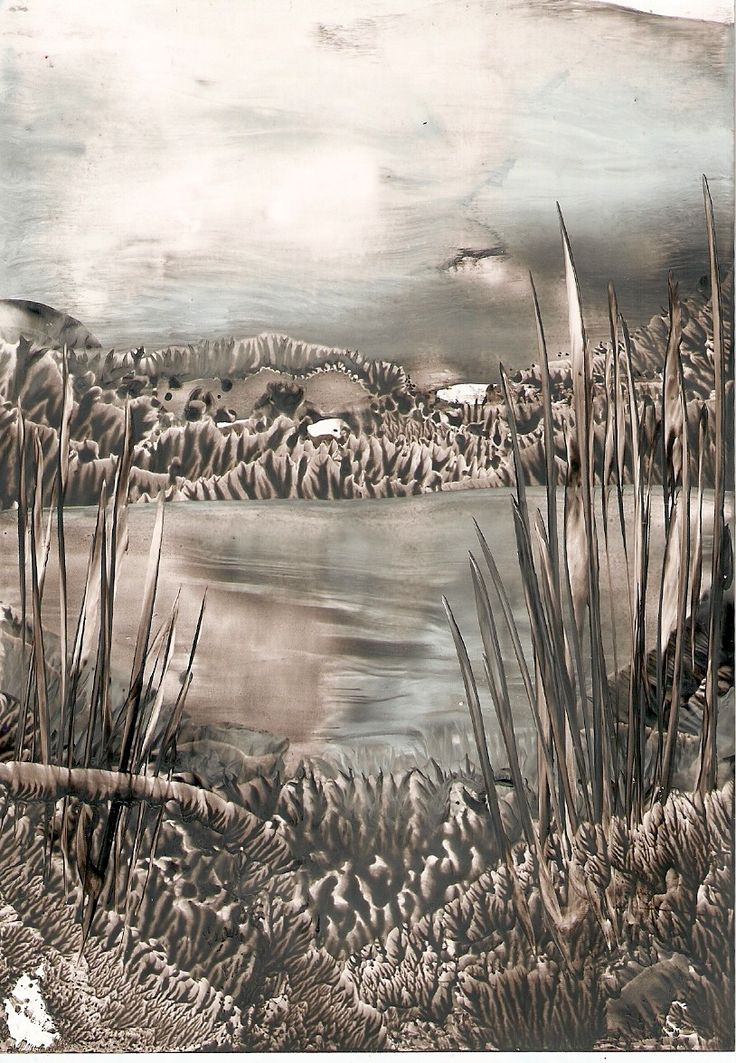 lake one of my encaustic art paintings