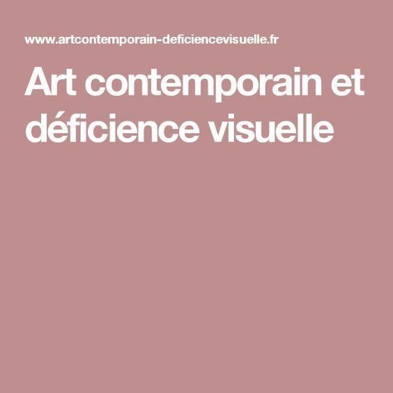 Art contemporain et déficience visuelle