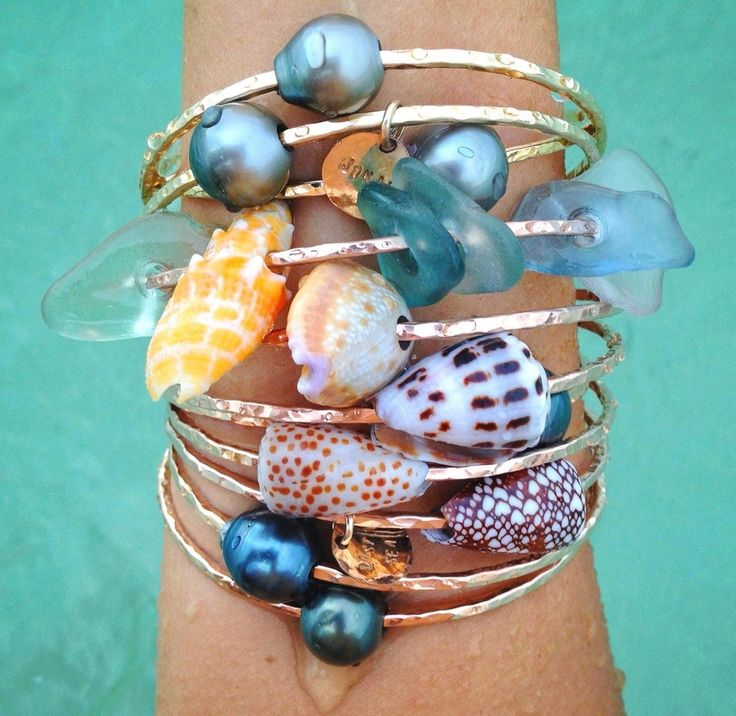 Hawaiian Seashell Bangle by Owlette Hawaii. Available at Fighting Eel!