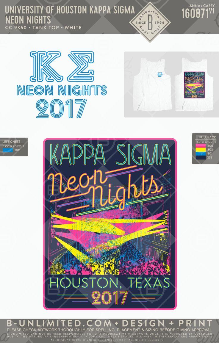 University of Houston- Kappa Sigma #BUonYOU #greek #greektshirts #greekshirts #fraternity #Kappa Sigma #KappaSig #Functions #mixers