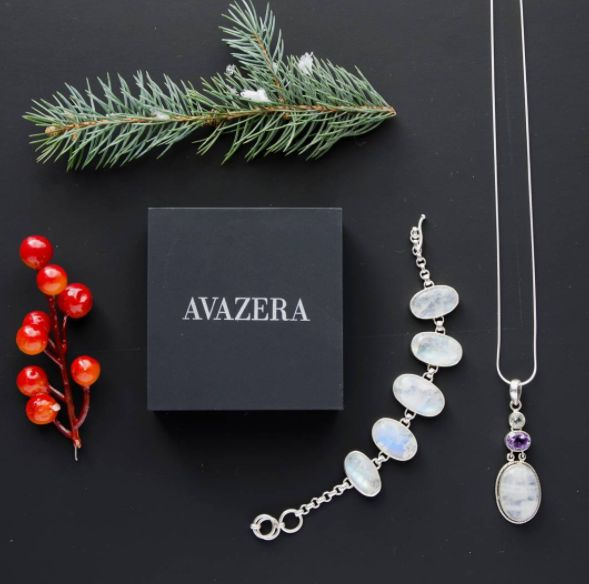 you + a holiday ready outfit + Avazera's natural gemstone jewelry = the best dressed, of course Visit www.avazera.com/shop  Pictured: Gemstone Trio Pendant: moonstone, amethyst, and clear quartz Moonstone bracelet  #jewelry #gemstone #natural #fashion #accessories #party #holiday #christmas #gift #love #gems #reiki #chakra #spiritual #gemstones #ootd #stone #present #beautiful #love #sterlingsilver #crystalhealing #goodvibesonly #jewelrygram #amethyst #moonstone #quartz #pendant #bracelet