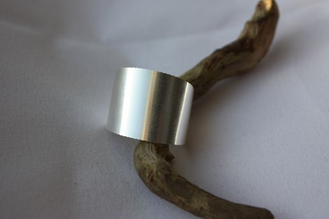 Hallmarked Broad Band Ring Upcycled from a Fine Silver Coin £23.95