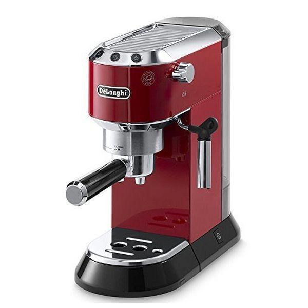 Cafetera Express de Brazo De'Longhi EC 680.R Dedica 15 bar 1 l 1450 W Rojo - NASHOOP
