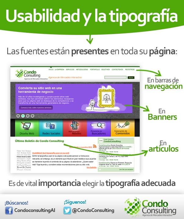 #Usabilidad y la #Tipografía