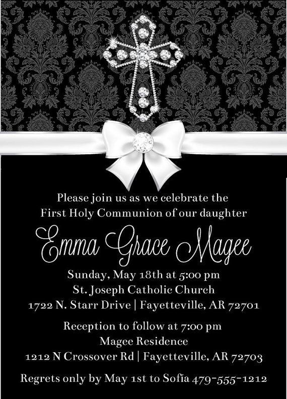 29 best first communion invitations images on pinterest first diamond first communion invite digital cross by announceitfavors solutioingenieria Images