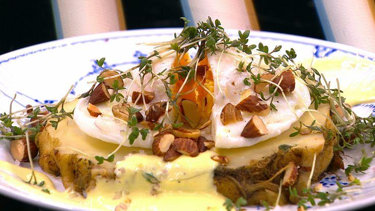 Bagt knoldselleri med æg og trøffelmayo