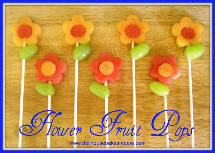 "Frozen fruit pops would be a cute and healthy option for a food item at a ""ready to POP"" baby shower!"