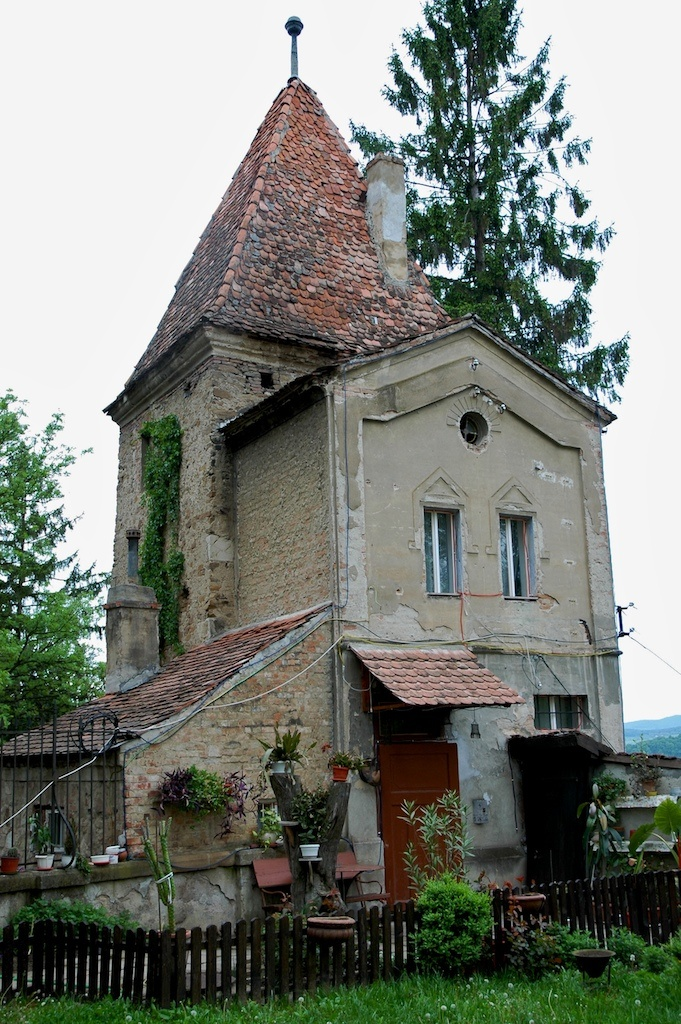 Sighisoara, Romania....I love this house, so different.