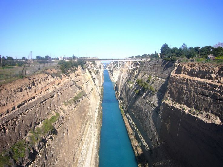 A breathtaking view of the Corinth Canal!