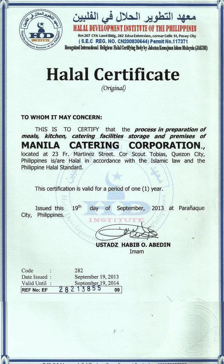 Halal Certification Halal Certifications Pinterest Halal