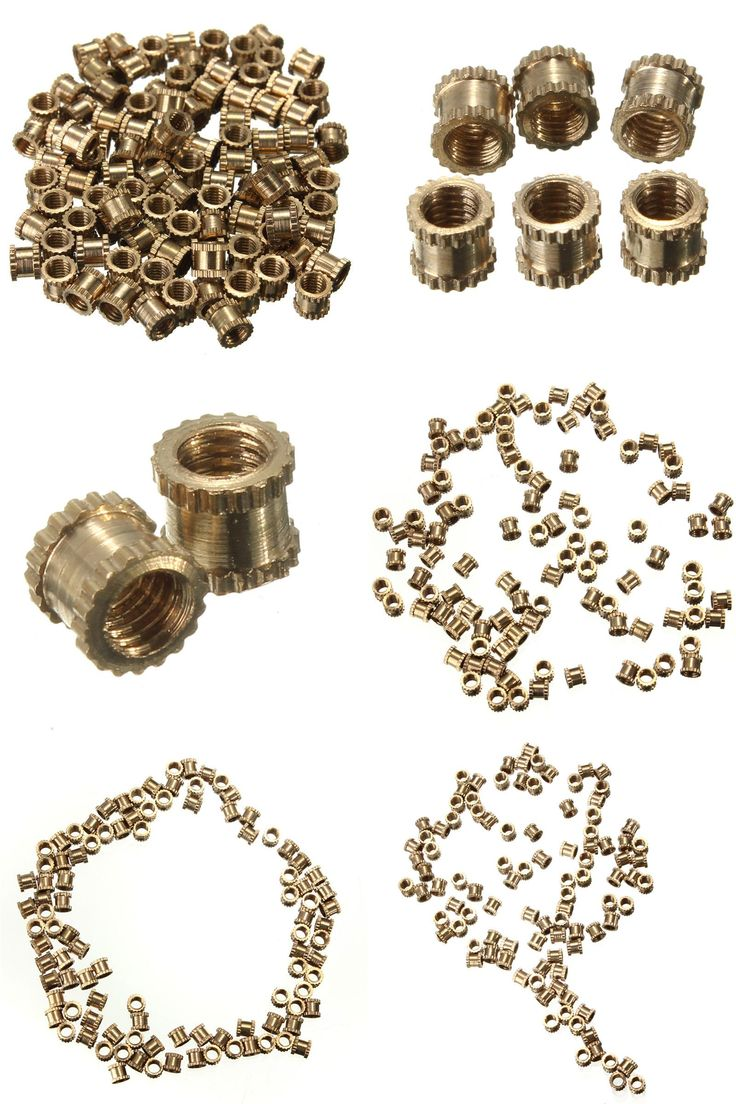 [Visit to Buy] NEW Best Price 100pcs/lot Brass Knurl Nuts M3 3mm(L)-3.6mm(OD) Metric Threaded Nuts Insert Round Shape #Advertisement