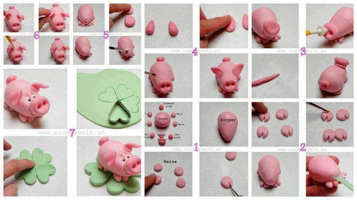 Fondant pig!