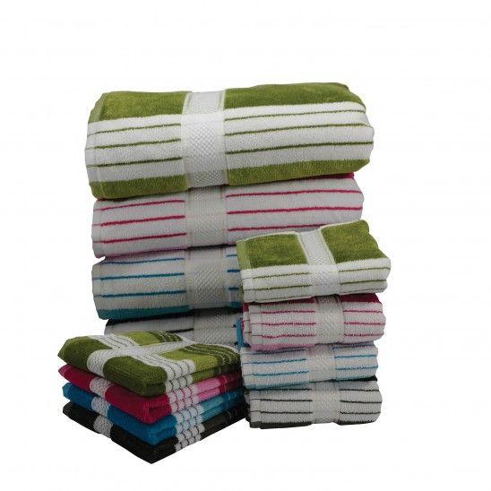 Woven Classic Stripe Towels
