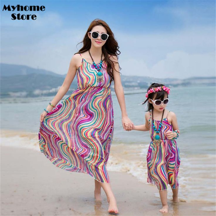 Free Shipping Summer 2017 News Girl Dress Sleeveless Children Clothing Toddler Maxi Dresses Rainbow Confused Striped Clothes