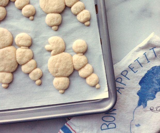snickerpoodles! cookie shaping idea (not a recipe) via bon appetit!