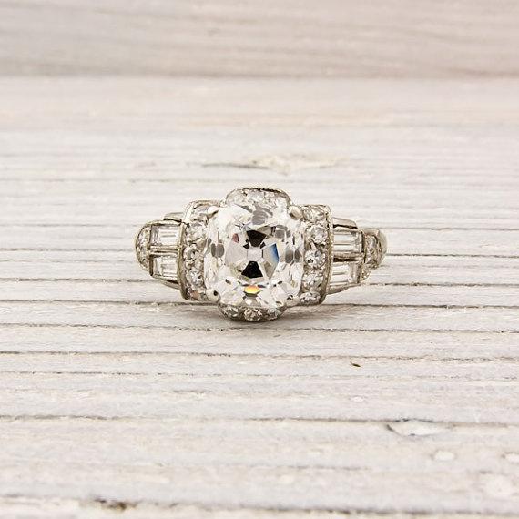 1925 diamond engagement ring :: Erstwhile