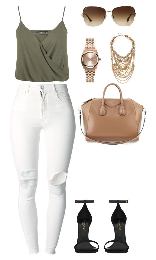 """""""Untitled #249"""" by amoney-1 ❤ liked on Polyvore featuring Miss Selfridge, (+) PEOPLE, Bulgari, Topshop, Givenchy, Lulu*s and Yves Saint Laurent"""