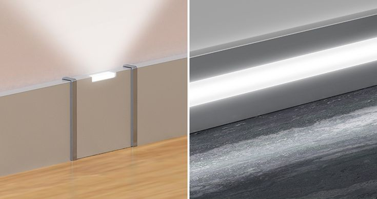 Aluminium, stainless steel and PVC skirting boards by Profilpas
