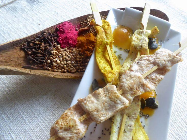 Spiedini di pollo alle spezie ed aromi per la ricetta http://www.frittomistoblog.it/2015/03/spiedini-di-pollo-alle-spezie-ed-aromi.html