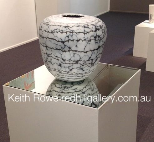 """The Pebble represents the passing of time. Rocks last for eons, showing time through the worn and smooth surface. The lines of different materials squeezed together through pressure show creation and demise. It is a thoughtful form that allows mediation.""  Keith Rowe Red Hill Gallery, Brisbane.  redhillgallery.com.au"