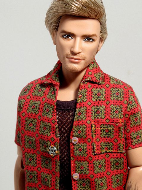 Custom OOAK Ken named Owen by Peewee Parker, via Flickr