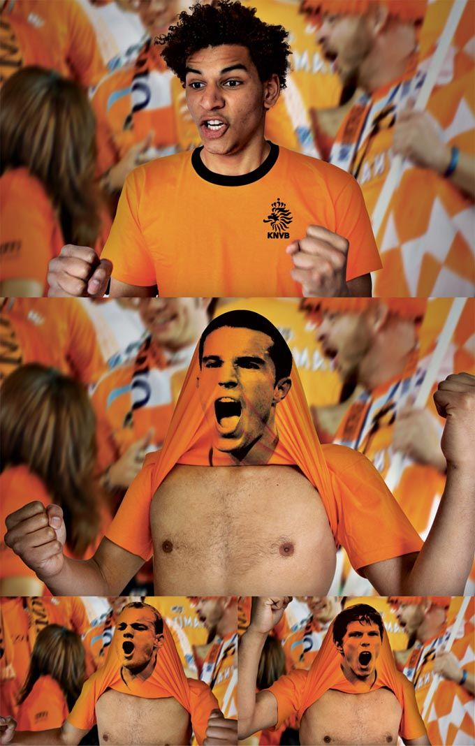 Genius idea - Dutch Football Federation - 2010 FIFA World Cup T-shirt.    Advertising School: Willem de Kooning Academie, Rotterdam, The Netherlands  Creatives: Bas van de Poel, Daan van Dam