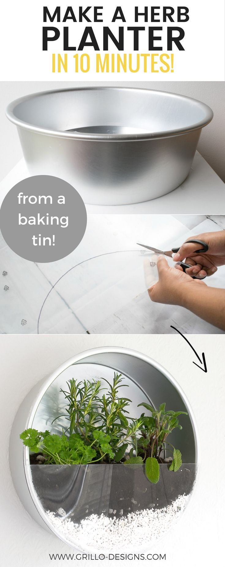 Make a herb planter in 10 minutes