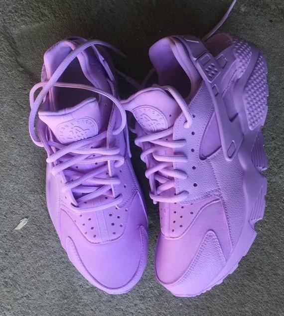 Purple sneakers, Nike shoes huarache
