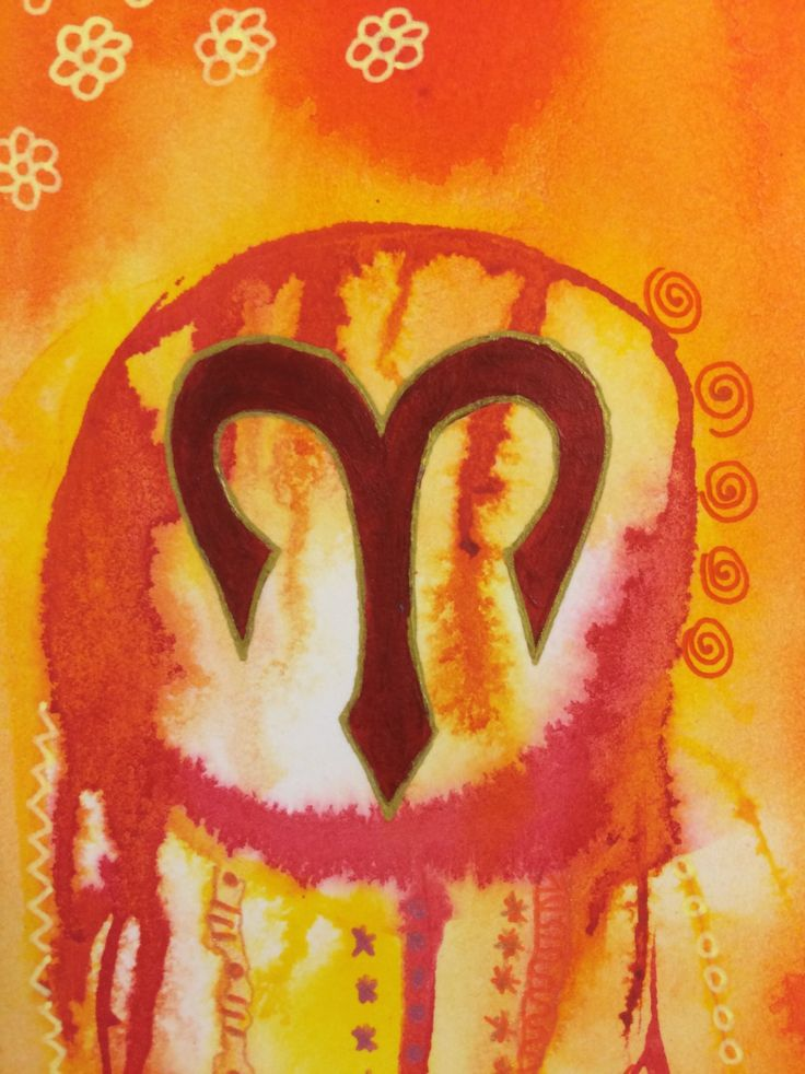 Aries Art, Dream Catcher Art, Star Sign Original Art, Zodiac Dreamcatcher, by CiArt on Etsy