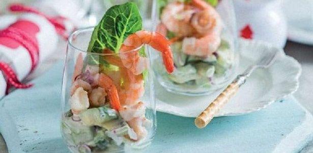 Prawn, calamari and avocado salad