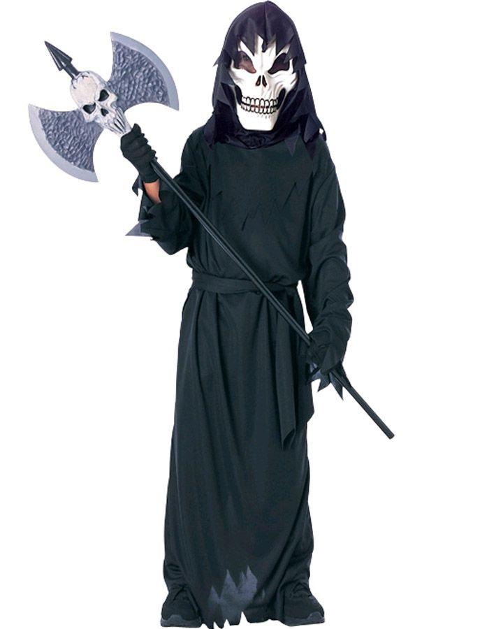 scary skeleton kids boys costume