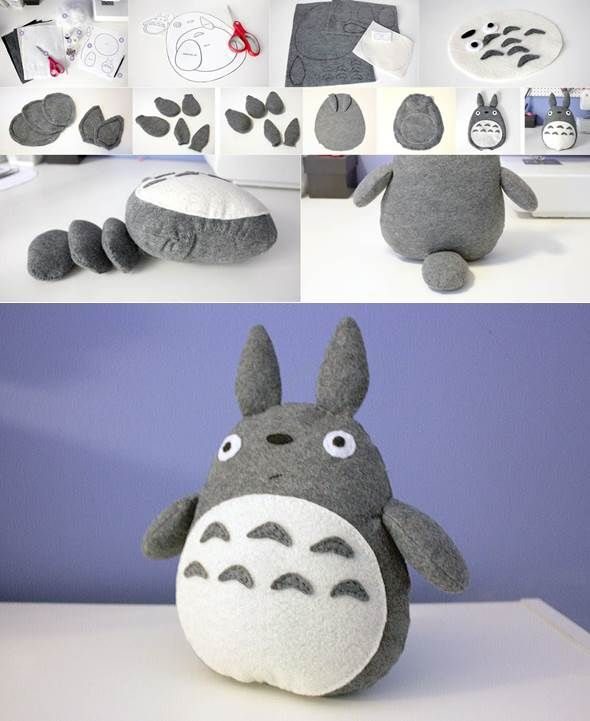 Inspiration pour le MakerSpace de Lille #doudou #totro #enfants  Totoro Plush - do it yourself stuff