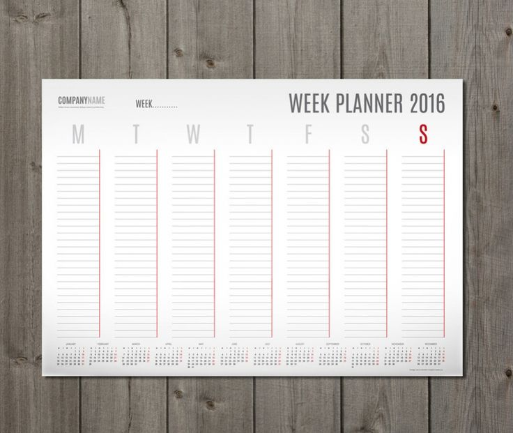 Best Weekly Planners Images On   Airplanes Calendar