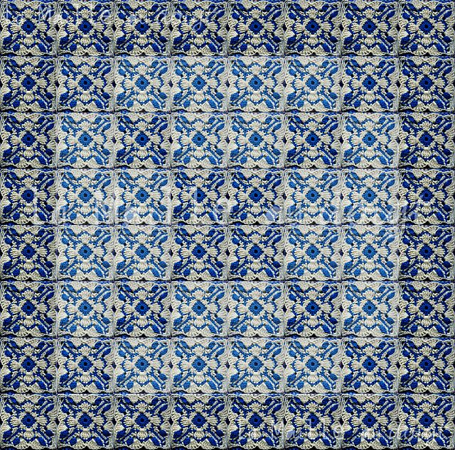 Ravelry: Aveiro Azulejos square pattern by Vers Cythère pour La Maille au doigt