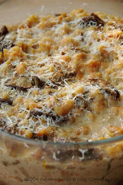 Spatzle di zucca al forno con funghi porcini               #recipe #juliesoissons