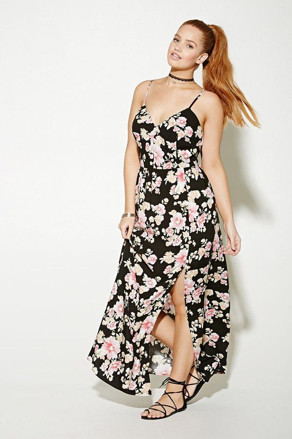 FOREVER 21+ plus size floral maxi dress