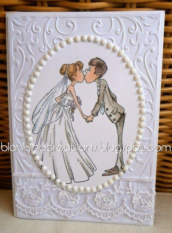 make it crafty wedding card by Blankina