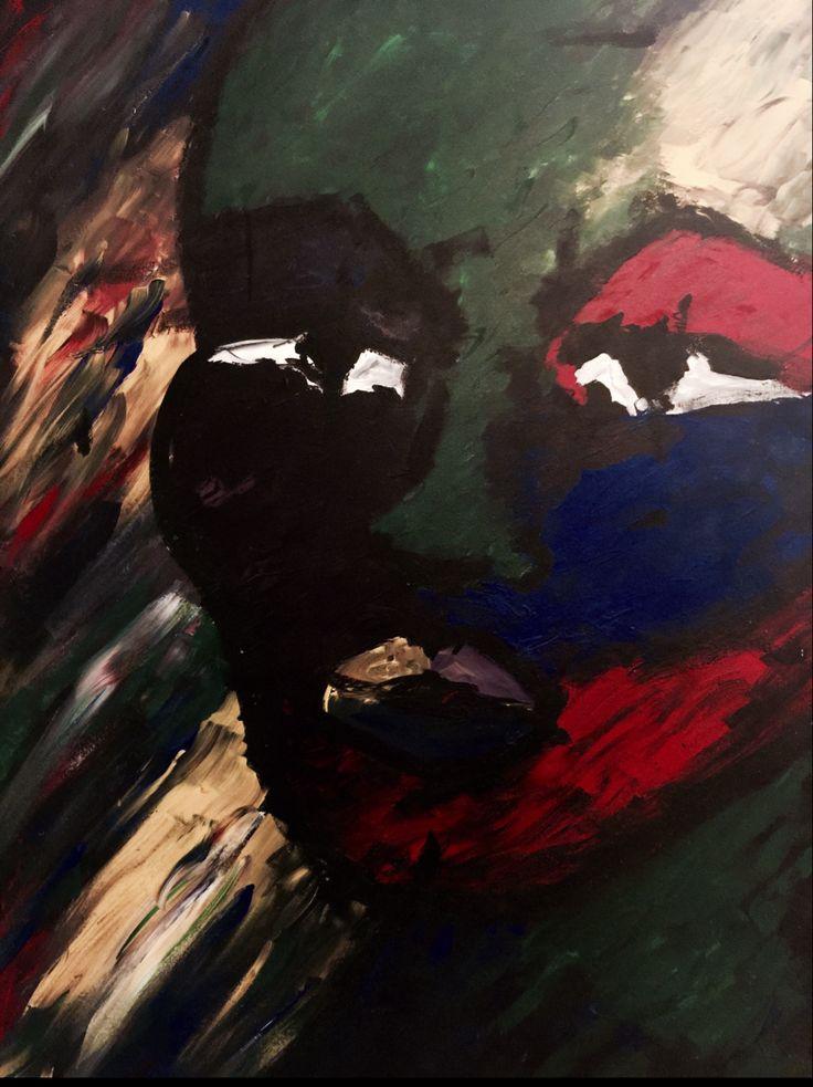 baby marcelo- ecce homo- acrylic on canvas