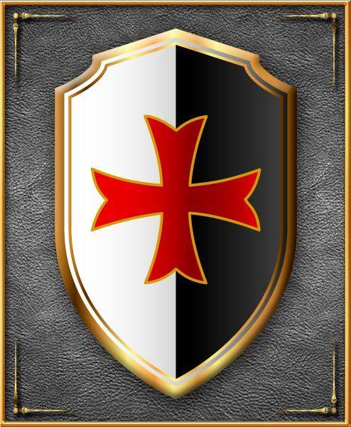 Knights Templar: #Knights #Templar Cross shield. Croix des templiers