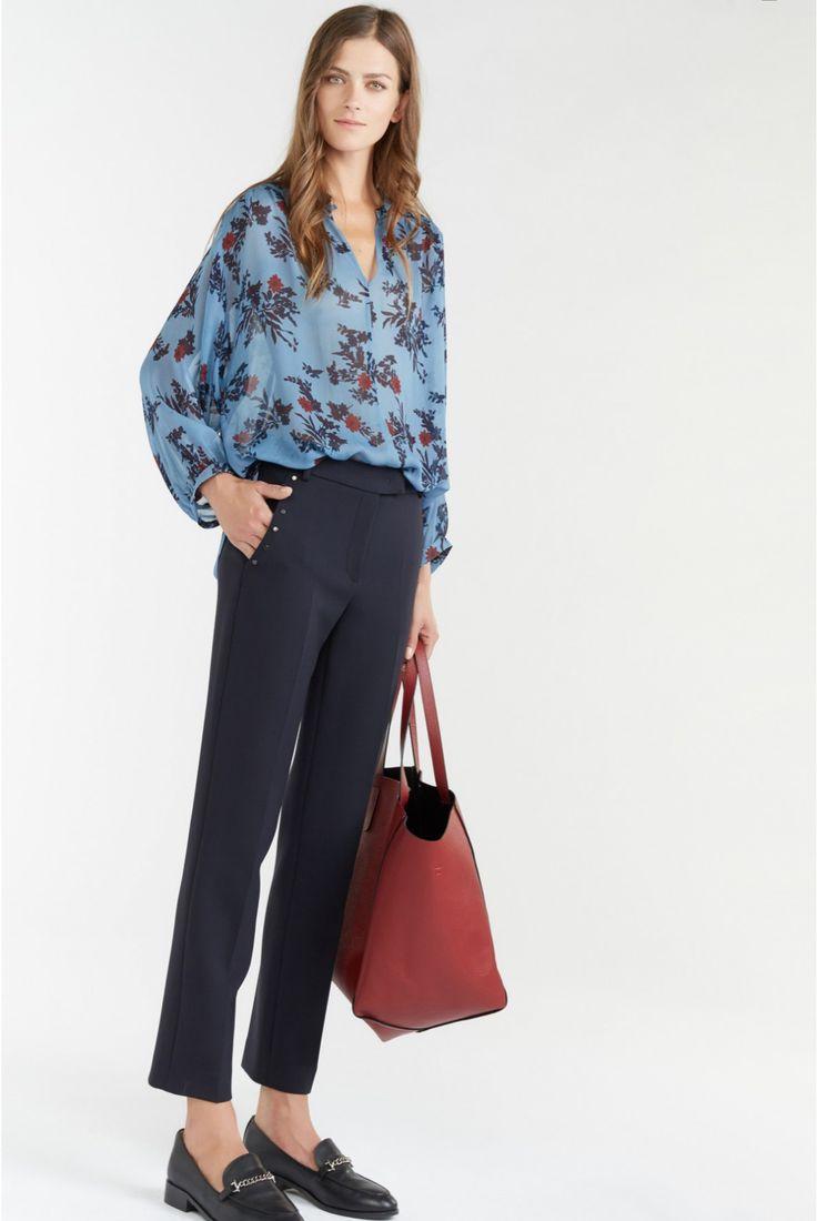 Alice trousers, midnight blue | gerard darel 1