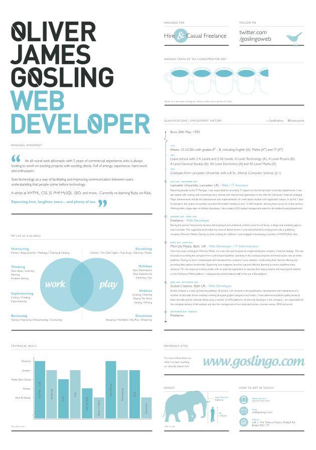 25 best ideas about Web Developer Cv – Web Developer Resume