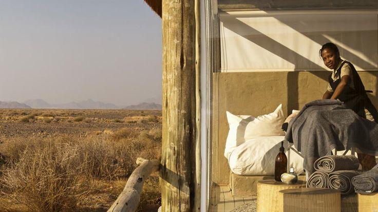 Enjoy a desert spa experience in Namibia #luxurytravel #namibia