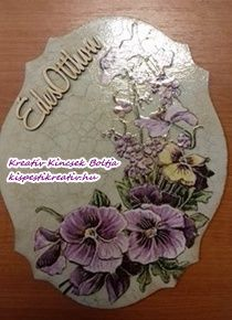 Virágos vintage tábla