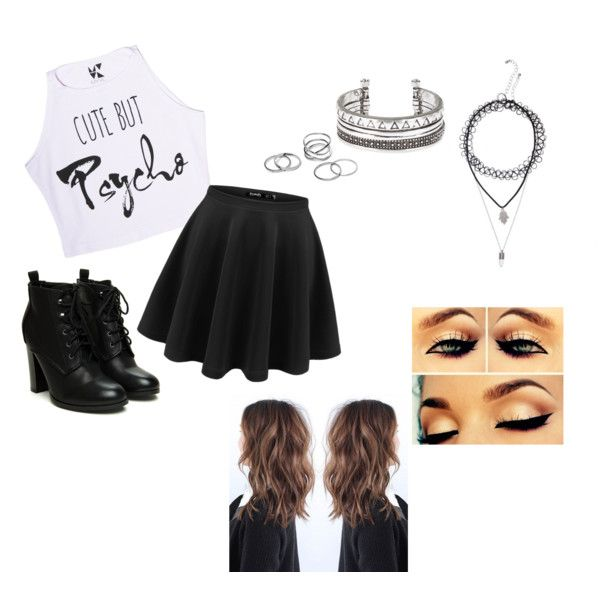 black/white outfit by bunnykayes on Polyvore featuring polyvore fashion style