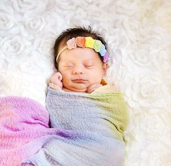 Rainbow baby headband. Rainbow baby flower crown, rainbow baby photo shoot, rainbow headband, baby headband, newborn photoshoot