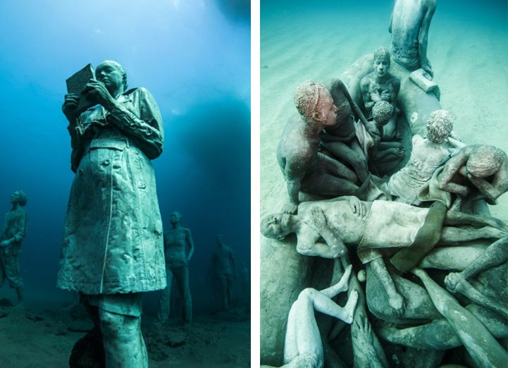 Hyperrealistic-Human-Sculptures-Submerged-in-Europe's-First-Underwater-Art-Museum-4